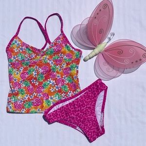 Speedo Pinky Pineapple Tankini